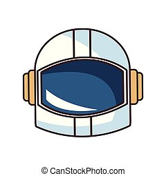 space astronaut helmet cartoon