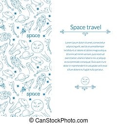 Space background for template card with place for text