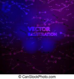 Space background. Nebula and shining stars. Vector illustration