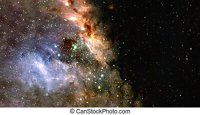 Space background of nebula and stars field