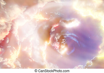 Space background with abstract planets