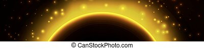 Space background with light from behind