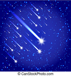 Space background with stars and com