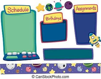 Space Bulletin Board Elements