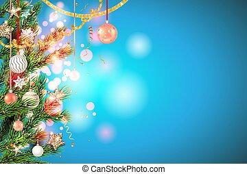 space., cópia, decorações, feriado