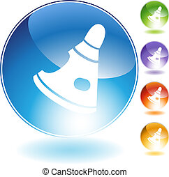 Space capsule icon isolated on a white background.