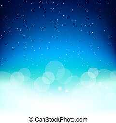 Space Christmas snow background