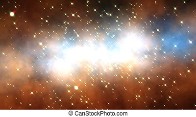 Space Clouds (24fps) - Flying through a galactic cosmos and...