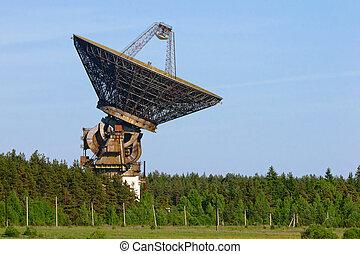 space communication antenna - huge space communication radar...
