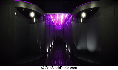 Space Corridor led light by 3D rendering