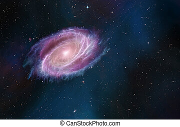 Space cosmic background of galaxy and stars field