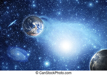 Space - Earth and planets. Elements of this image furnished...