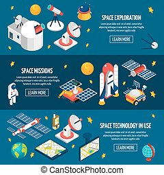 Space Exploration Banner - Horizontal banner about space ...