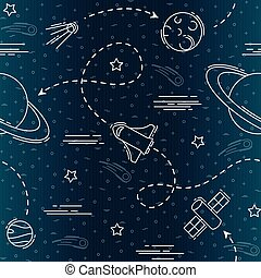 Space exploration seamless pattern