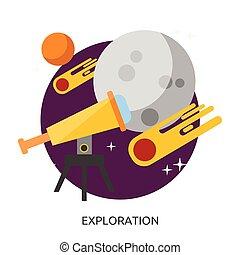 Space Exploration Vector Image