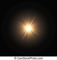 Space explosion of a star