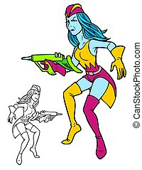 space femme - Militant feminist alien wearing the latest ...