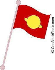 Space flag, illustration, vector on white background.