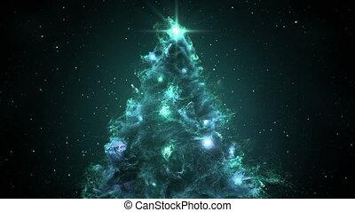 Space Flight Around Christmas Tree Nebula in Space Full 4K...