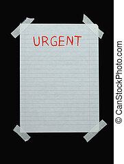space for urgent not