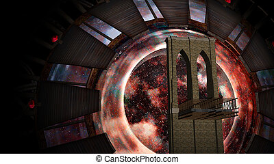 Space Gate into other world