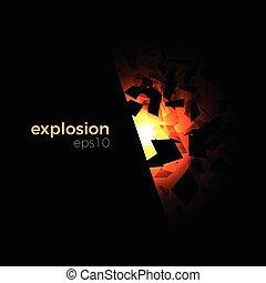 Space geometric explosion