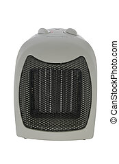 Space heater on white with clipping path