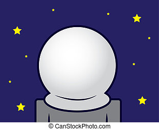 Space Helmet Blank