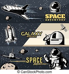 Space Horizontal Banners Set
