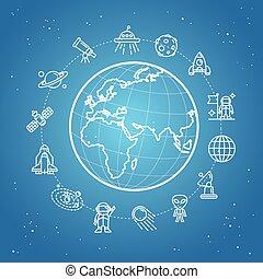 Space Icon Concept. Vector