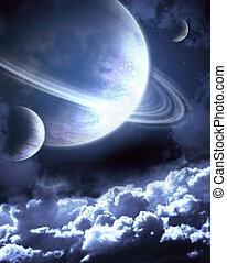 Space - Illustration - a fantastic beautiful galaxy