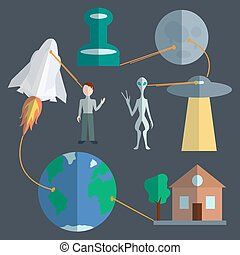 Space infographics set