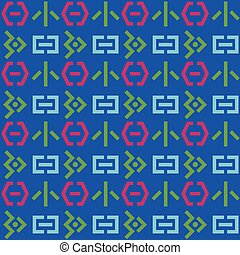 Space invaders seamless pattern. Suitable for screen, print...