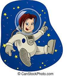 The joys of outer space, as experienced by the space age of childhood. 3 of 4
