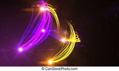 space light streaks