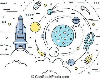 Space Line Art Design