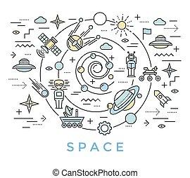 Space Line Art