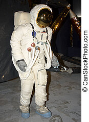Space man - A  space man on the moon with lander behind