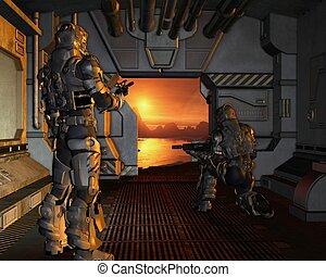 Space Marines arriving on Mars