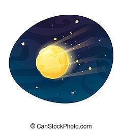 Space meteor vector illustration