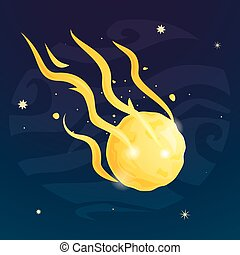Space meteor vector illustration