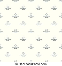 Space mission pattern vector seamless