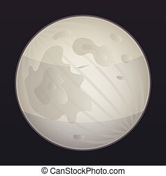 Space moon icon, isometric style