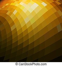 space., mosaïque, résumé, fond, copie, doré