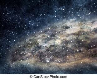 Enormous cloud of interstellar gas glowing deep in space