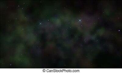 space nebula fog stars