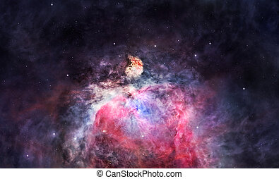 Space nebula in Orion