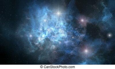 Space nebula rotation loopable