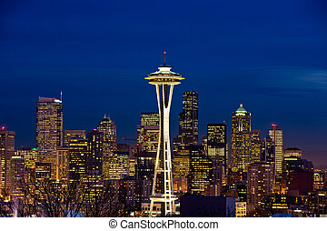 Space Needle In Seattle Washington