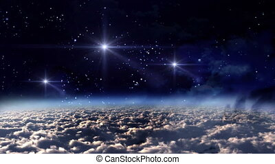 space night white stars - the mystery of stars glowing in...